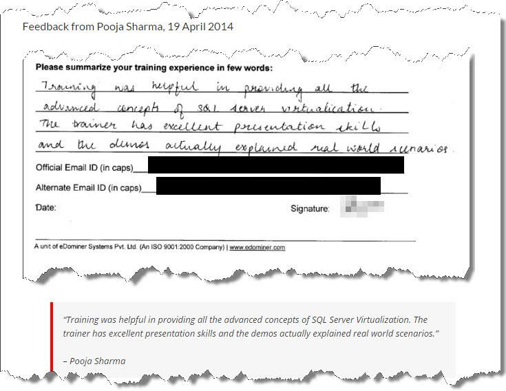 SQL Virtualization, Pune April 2014
